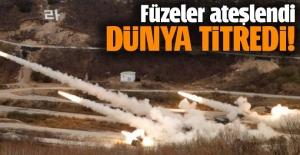 Kuzey Kore sınırında füzeler ateşlendi