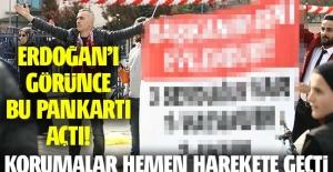 Pankart açarak Erdoğan'dan kendisini evlendirmesini istedi