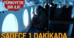 Türkiye'de bir ilk! Sadece 1 dakikada...