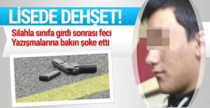 Liseli Genç, Sınıfta Kız Arkadaşını Öldürüp Kendi Kafasına Sıktı