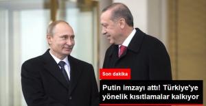 Putin, Türkiye'ye Yönelik Ekonomik Kısıtlamaları İptal Eden Kararnameyi İmzaladı