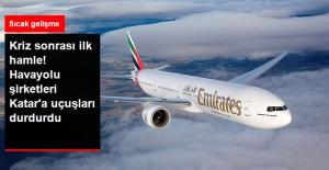 Dubai ve Abu Dabi Havayolu Şirketleri, Katar'la Uçuşları İptal Etti