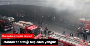 Fatih'teki Bisikletçiler Çarşısında Yangın Çıktı
