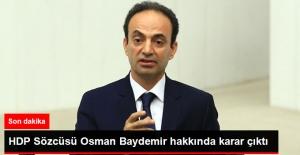 Gözaltına Alınan HDP Sözcüsü Osman Baydemir Serbest Bırakıldı