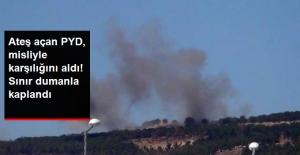 TSK, PYD'yi Vurdu! Kilis Sınırı Dumanla Kaplandı