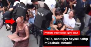 Polis, Sanatçıyı Heykel Zannedince Müdahale Etmedi