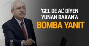 Kılıçdaroğlu'ndan Yunan Bakan'a bomba Ege adaları yanıtı