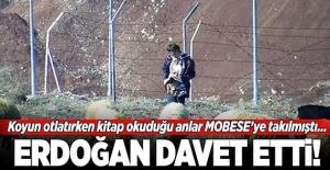 Koyun otlatırken kitap okuduğu o anlar MOBESE'ye takılmıştı! Erdoğan davet etti...