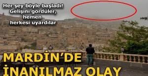 Mardin'de inanılmaz olay! Gelişini gördüler hemen herkesi uyardılar...