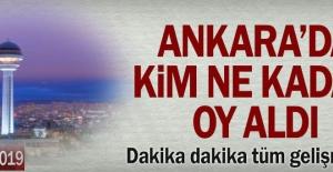 Ankara'da kim ne kadar oy aldı Ankara'daki seçimde neler oluyor..