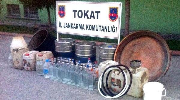 Tokat'ta 113 Litre Kaçak Raki Ele Geçirildi