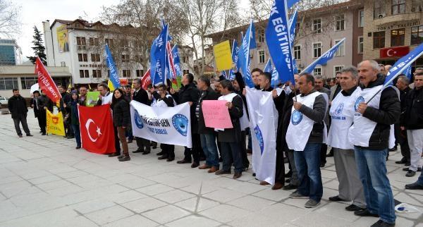Tokat'ta Eğitimciler İş Bıraktı