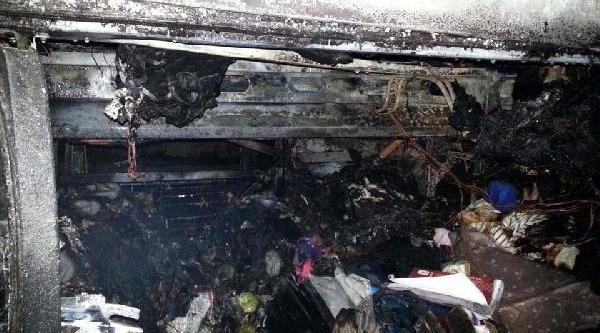 Tokat'ta Yolcu Otobüsü Seyir Halindeyken Yandi