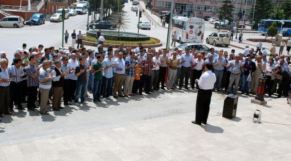 Tosya'da İsrail Protestosu