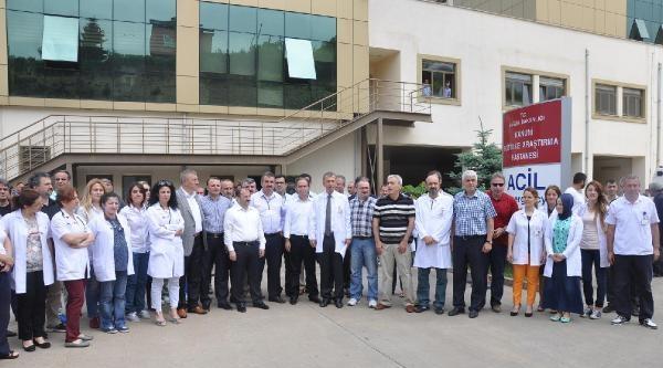 Trabzon'da Doktora Saldırıya Tepki