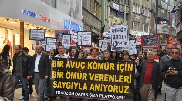 Trabzon'da Maden İşçileri Anısına Yürüyüş