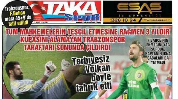 Trabzon'da Yerel Gazetelerden Sert Tepki