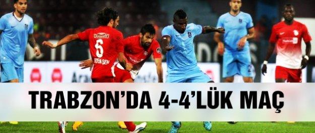 Trabzonspor Gaziantep maçında 8 gol!