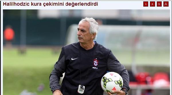 Trabzonspor-halilhozic Kurayı Değerlendirdi