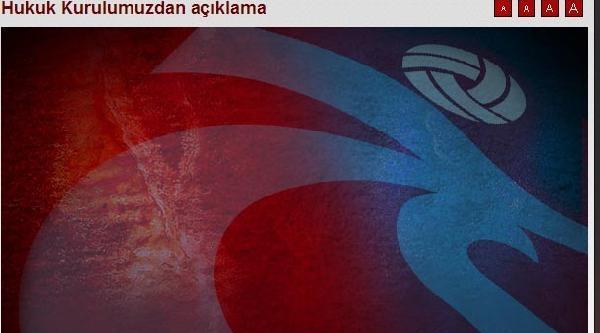 Trabzonspor Hukuk Kurulu'ndan Sert Açıklama