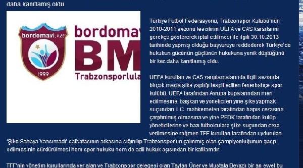 Trabzonspor Taraftarlarindan Açiklama