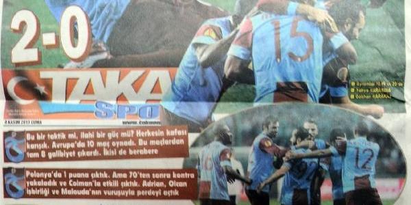 Trabzonspor'a Yerel Gazetelerden Övgü