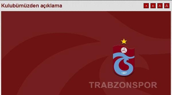 Trabzonspor'dan Constant Açıklaması
