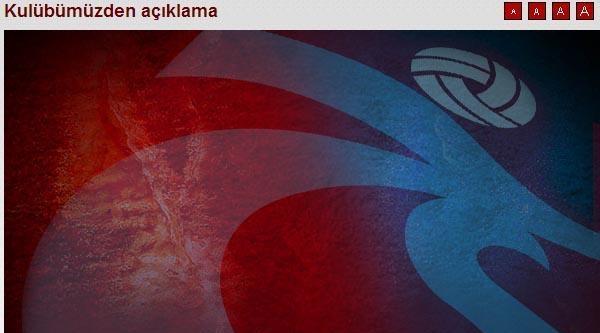 Trabzonspor'dan Emre Belözoğlu Açıklaması