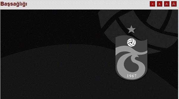 Trabzonspor'dan Koyuncu İçin Başsağlığı