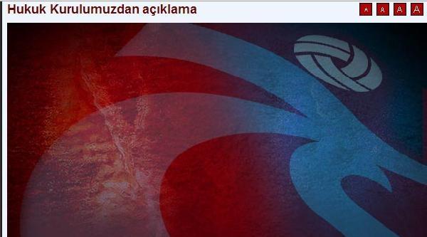 Trabzonspor'dan Müfettiş Açıklaması