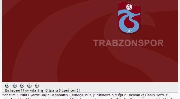 Trabzonspor'dan Sebahattin Çakiroğlu'Na Cevap