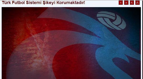 """Trabzonspor'dan, """"türk Futbol Sistemi Şikeyi Koruyor"""