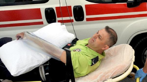 Trafik Polisi Kazada Yaralandı - Ek Fotoğraflar