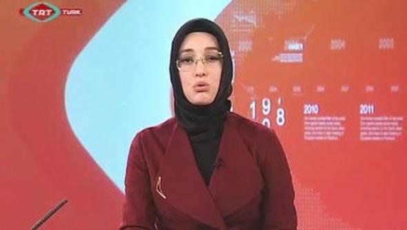 TRT'de ilk kez türbanlı spiker ekrana çıktı...