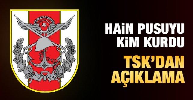 TSK:3 Askerin şehit olduğu saldırıyı teröristler yaptı
