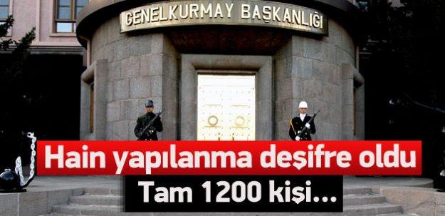 TSK'nın içindeki paralel yapı 1200 kişi