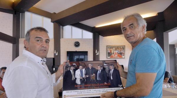Tüfad Trabzon Şubesi Halilhodzic'i Ziyaret Etti