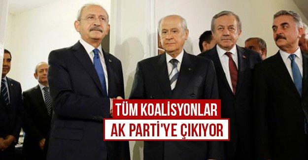 Tüm koalisyonlar AK Parti'ye çıkıyor