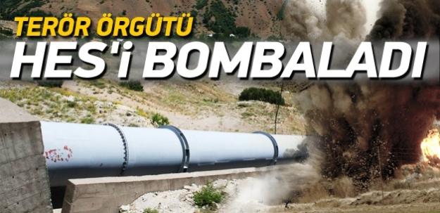 Tunceli'de HES'e bombalı saldırı