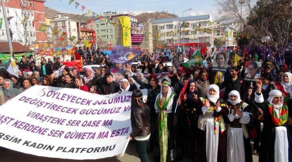 Tunceli'de Kadınlar Yürüdü