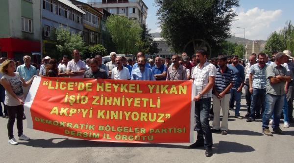 Tunceli'de Lice İçin Protesto Eylemi