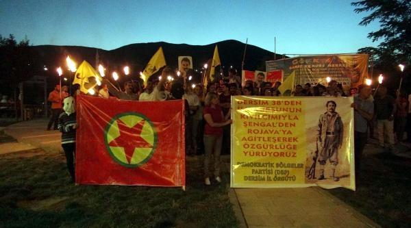 Tunceli'de Meşaleli Yürüyüş
