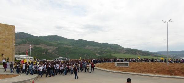 Tunceli'de Soma Protestosu