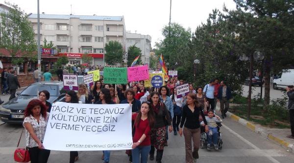 Tunceli'de Tecavüz Ve Taciz Protesto Edildi