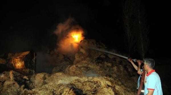 Turhal'da Saman Yangını