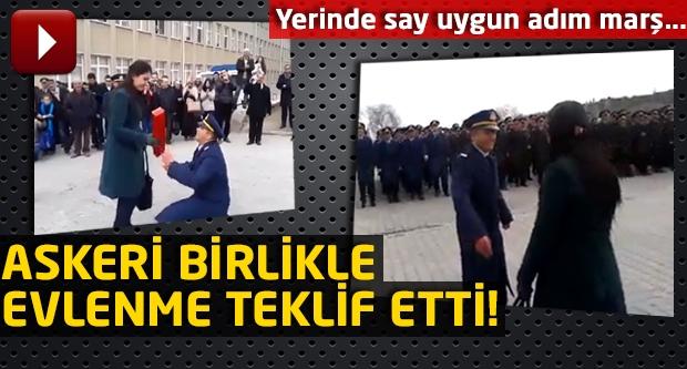 Türk askerinden ilginç evlenme teklifi...