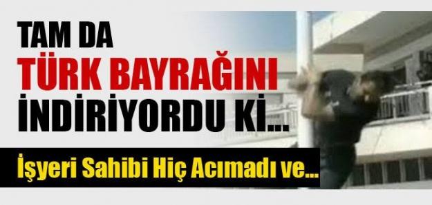 Türk bayrağını indiren provokatörü vurdu!