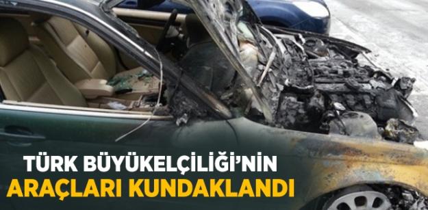 Türk Büyükelçiliği'nin Araçları Kundaklandı!
