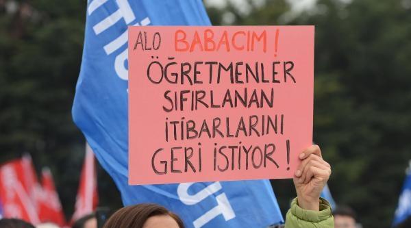 Türk Eğitim-sen Üyesi Öğretmenlerden İş Bırakma Eylemi