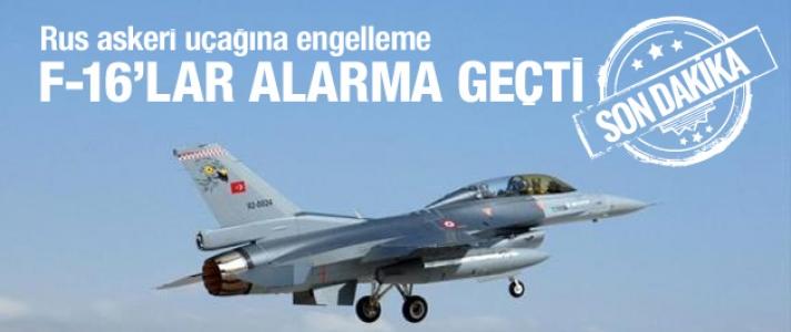 Türk F-16'lar 'Alarm' koduyla kalktı!